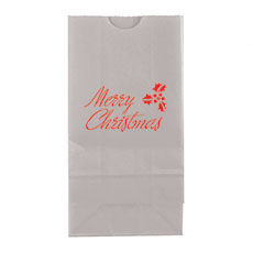 Merry Christmas Block Bottom Gusset Paper Goodie Bags
