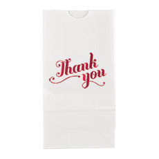 Thank You Block Bottom Gusset Paper Goodie Bags