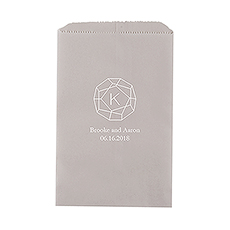 Gemstone Initial Flat Paper Goodie Bag