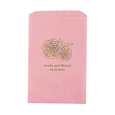 Shabby Chic Floral Flat Paper Goodie Bag