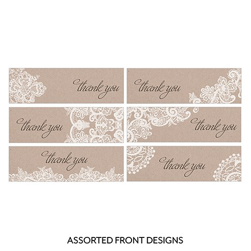 Wedding Favor Tags Vistaprint : home / wedding favour stationery / favour tags / Lace Medley Assorted ...