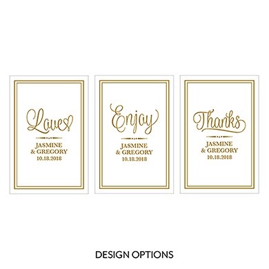 Celebration Script Large Rectangular Tag
