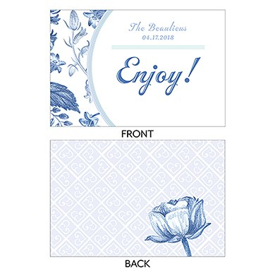 Vintage Romance Assorted Flat Place Cards   Hand Drawn Florals