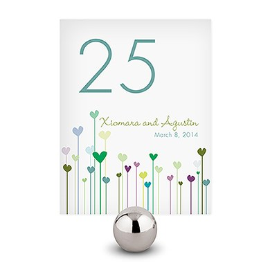 Hearts Table Wedding Numbers