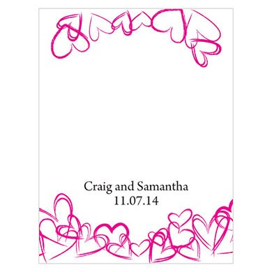 Contemporary Hearts Place Card With Fold