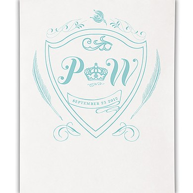 Regal Monogram Personalized Wedding Photo Booth Backdrop