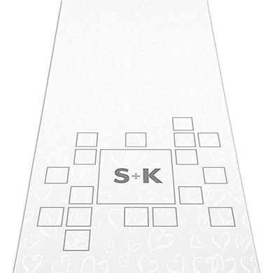 Times Square Personalized Wedding Aisle Runner