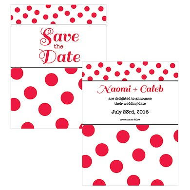 Candy Colorful Save The Date Card
