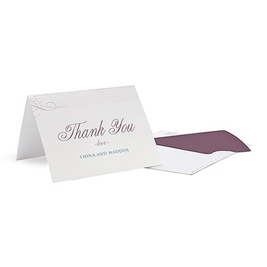 Contemporary Vintage Thank You Card