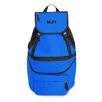 Expandable Cooler Backpack Blue
