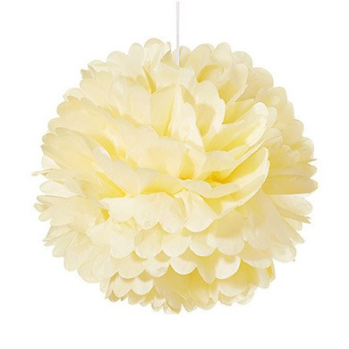 Small Paper Pom Pom French Vanilla / Ivory