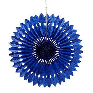 Paper Pinwheel Decor Royal Blue