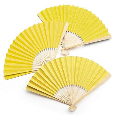 Paper Fan Yellow