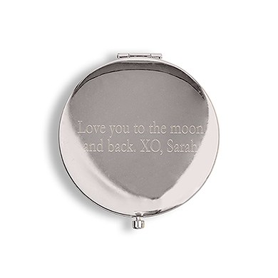 Designer Compact Mirror Anchor on Stripes Print