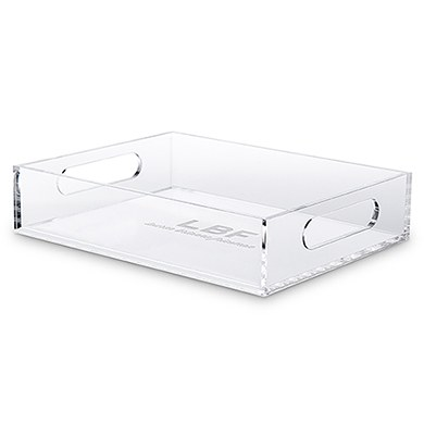 Rectangular Acrylic Tray - Bold Monogram Etching