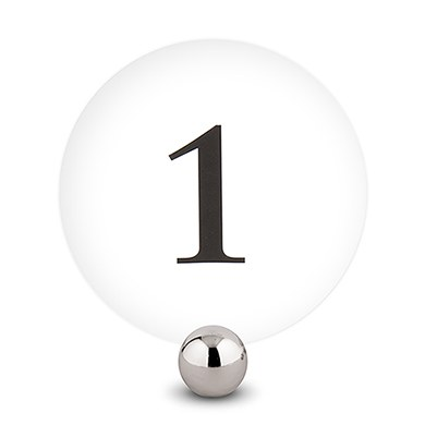 Round Wedding Table Number Cards