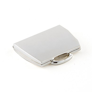 Silver Plated Purse Shaped Compact Mirror Wedding Gift