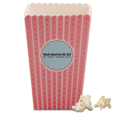 Novelty Wedding Favor Popcorn Cartons
