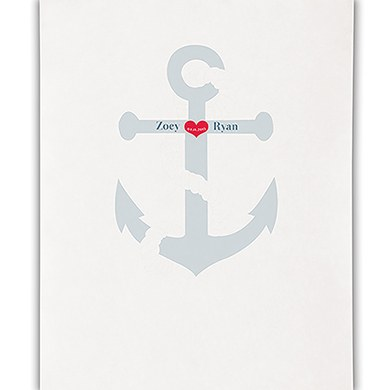 Anchor Personalized Wedding Photo Booth Backdrop