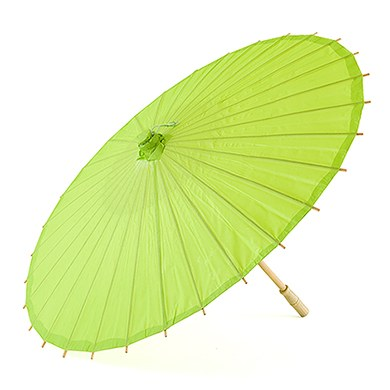 Paper Parasol with Bamboo Boning - Candy Apple Green