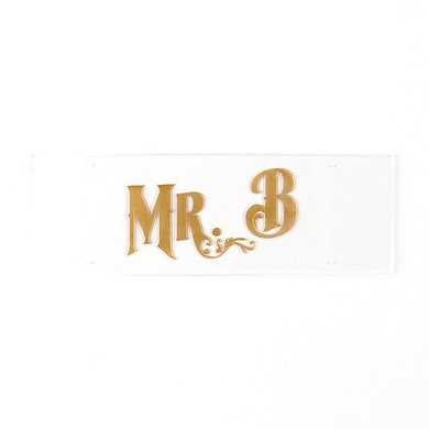 Black and Gold Opulence Engraved Personalized