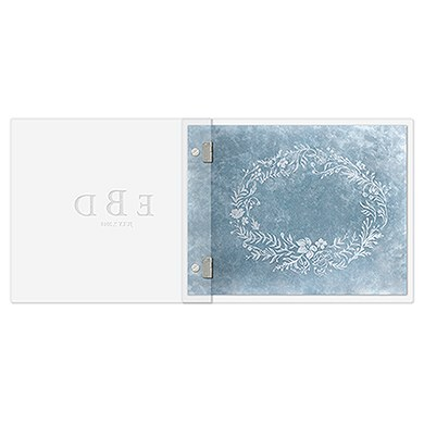 Clear Acrylic Wedding Guest Book   Modern Fairy Tale Etching
