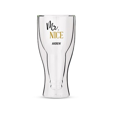Double Walled Beer Glass - Mr. Nice Printing