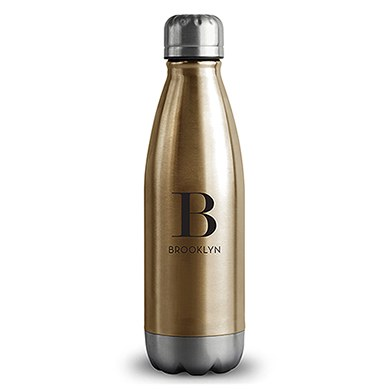 Central Park Travel Bottle - Matte Gold - Modern Serif Initial Printing