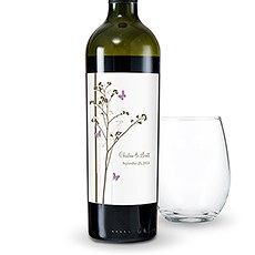 Romantic Butterfly Wine Label