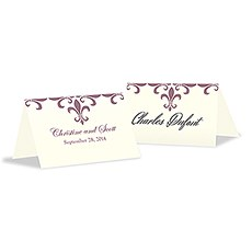 Fleur De Lis Place Card With Fold
