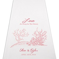 Reef Coral Personalized Aisle Runner