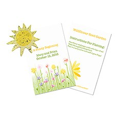 A Sunny Beginning Card with Seed Paper Sun
