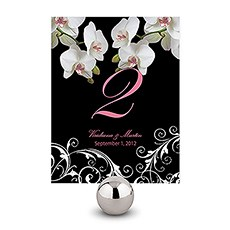 Classic Orchid Table Number