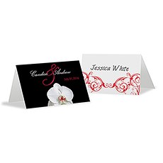 Classic Orchid Place Card With Fold