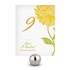 Zinnia Bloom Table Number
