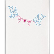 Birds with Love Pennant Personalized Photo Backdrop
