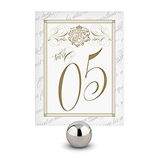 Parisian Love Letter Table Number