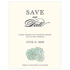 Burlap Chic Save The Date Card