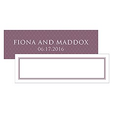 Contemporary Vintage Small Rectangular Tag