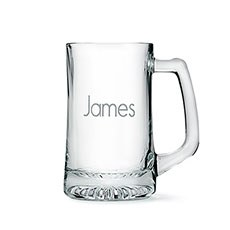 Engraved Glass Beer Mugs Gift for Men