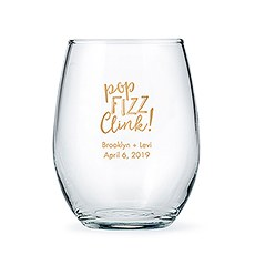 Personalized Stemless Wine Glass Wedding Favor – Large