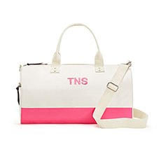 Off We Go Canvas Weekend Bag - Pink Candy