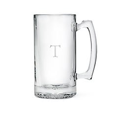 Etched Glass 25 oz Beer Mug