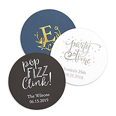 Personalized Paper Coasters - Round