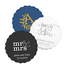 Personalized Paper Coasters - Scalloped