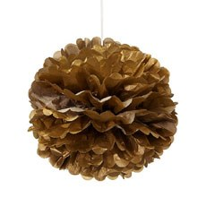 Small Metallic Paper Pom Pom - Gold