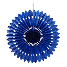 Paper Pinwheel Decor - Royal Blue