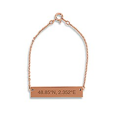 Horizontal Rectangle Tag Bracelet - Coordinates