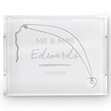 Rectangular Acrylic Tray - Handwritten Text Etching