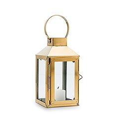 Small Decorative Candle Lantern - Gold